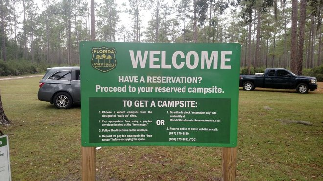 Campsite Welcome Sign
